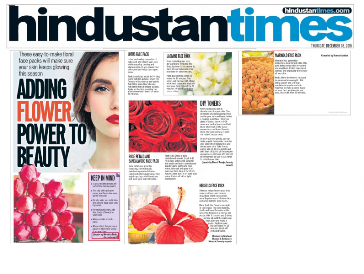 Skinology news-adding flower power to beauty