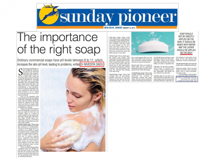 Skinology news-the importance of the right soap