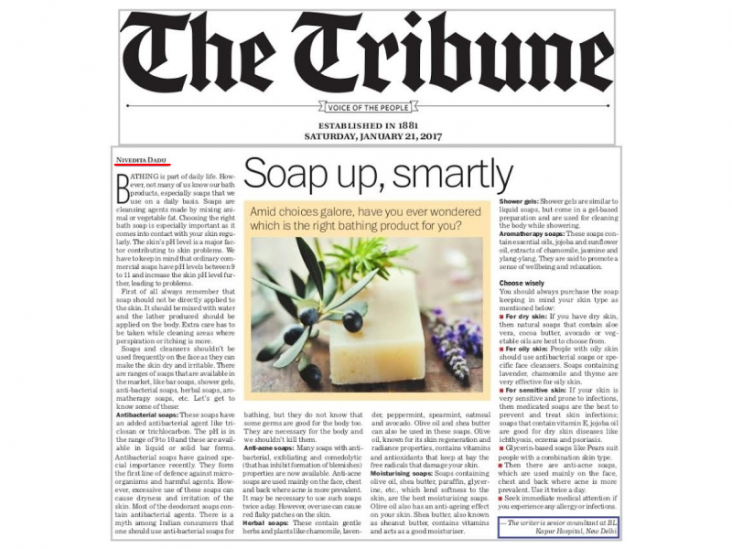 Skinology news-Soap up smartly
