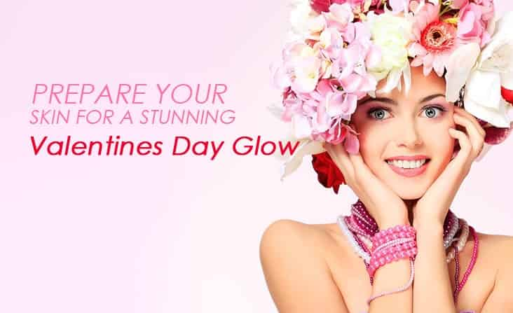 prepare skin for valentines day glow